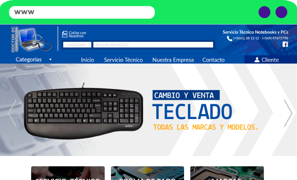 Sitio Web Doctor PC