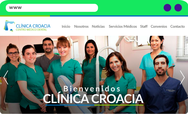 Sitio Web Clinica Croacia